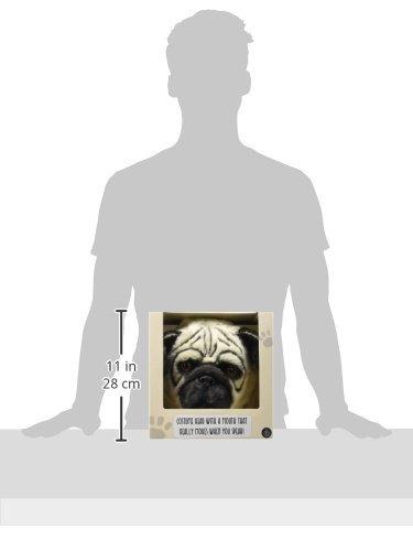 máscara pulgares arriba del perro del barro amasado