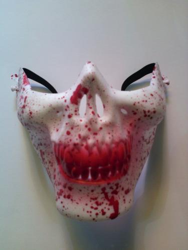 mascara quijada de calavera halloween