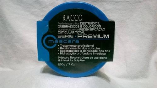 máscara reconstrutora de uso diário série premium 200g racco