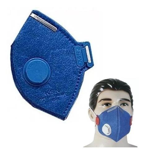 mascara respirador contra corona virus c/ valvula 10 pçs