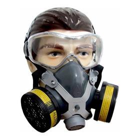 Mascara Respirador Facial Gases Ácido Formol Veneno Pintura