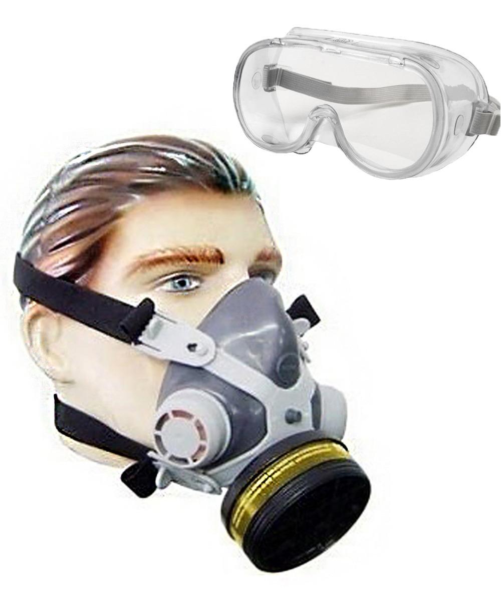 mascara respirador facial pintura gases veneno formol óculos. Carregando  zoom. 1a9fc4f989