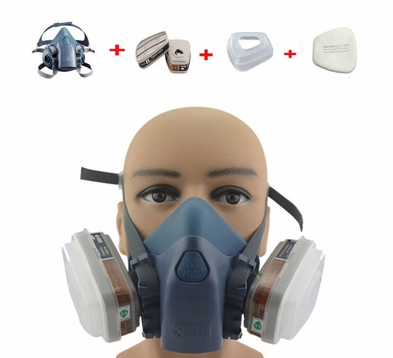 Máscara Respirador Semi Facial 3m 7502 Completa - Oferta - R  167,00 em  Mercado Livre 49fcd23757