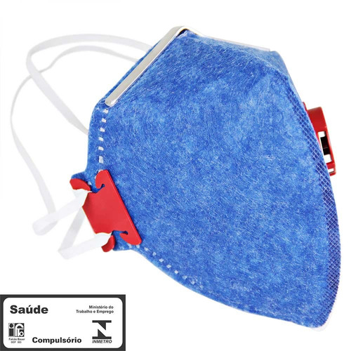 máscara respirador semifacial pff1 válvulada prosafety-110