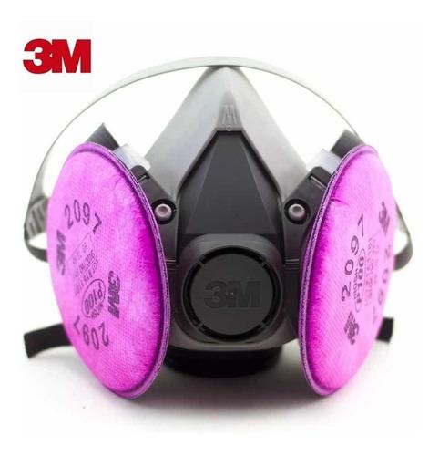 máscara respiratoria 3m con filtros 2097 (p100)