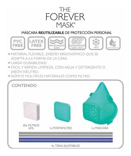 mascara reutilizable the forever mask barbijo tapaboca°