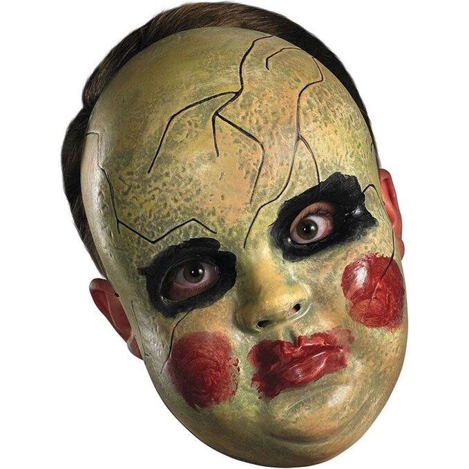 M scara r gida de mu eca de terror disfraz halloween - Mascaras de terror ...