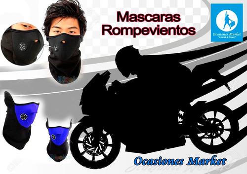 mascara rompeviento para moto