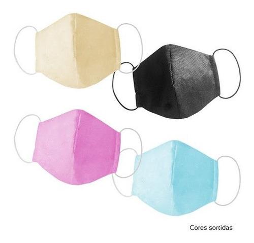 máscara rosto facial dupla proteção lavável cores