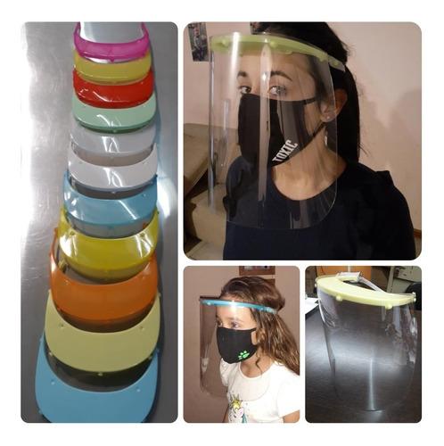 mascara sanitaria con protección facial. color a elección.