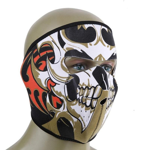 máscara skull fire para moto,ciclismo,airsoft,surf,treking