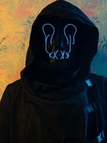 mascara slasher terror y fiestas halloween + disfraz negro