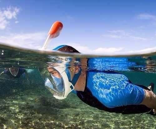 99db71120 Máscara E Snorkel Seasub Aqua Full Face - R  329