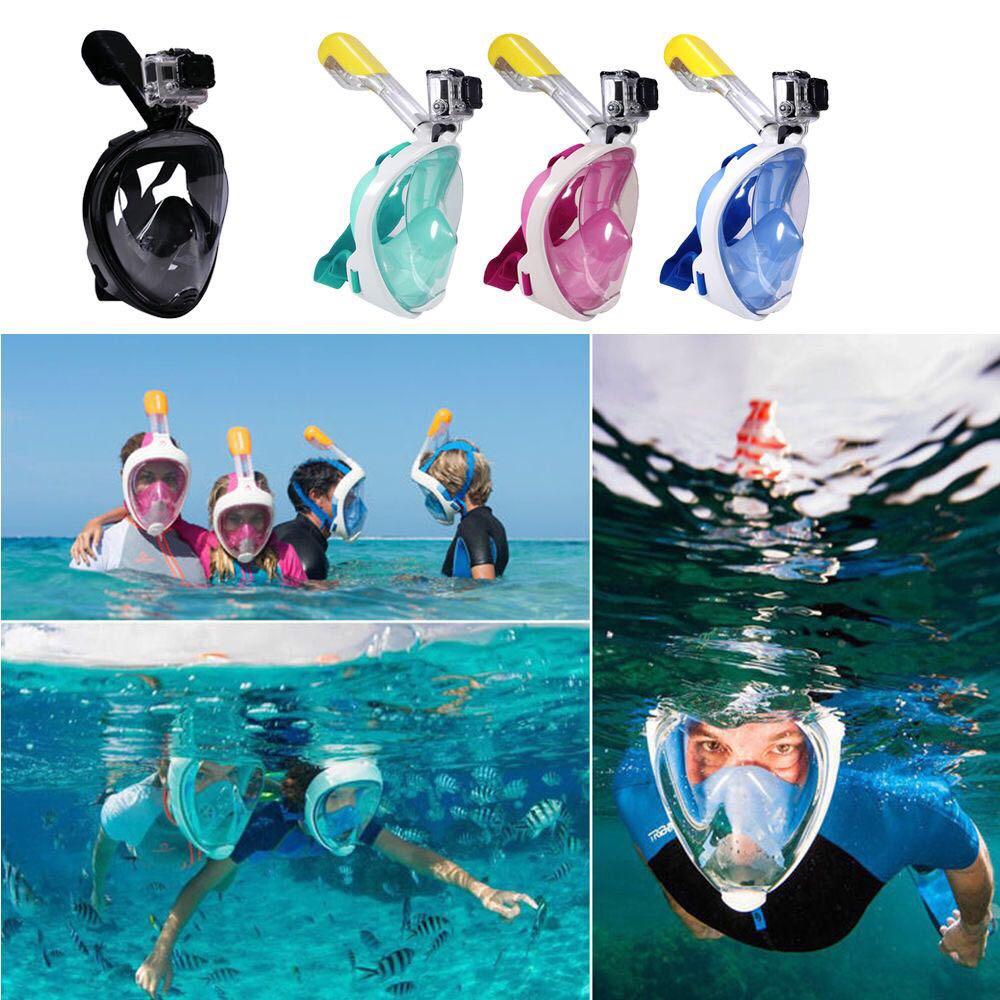 0df2e368a Mascara Snorkel Full Face Apto Go Pro -   1.890