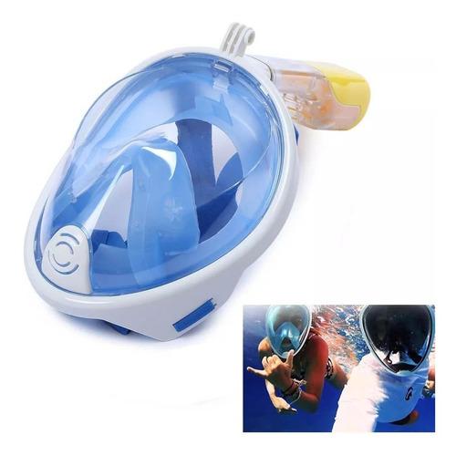 mascara snorkel para buceo - visor snorkel frontal - easybreath snorkel mask