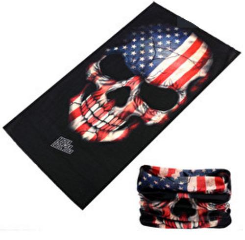 máscara solar tube touca neck caveira americana esporte uv