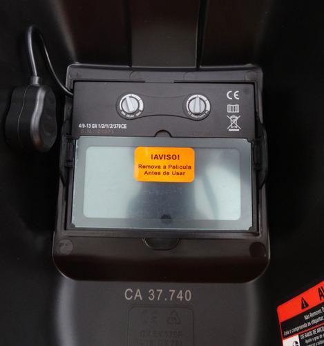 mascara solda escurecimento automatico 9 a 13 msl-500s lynus