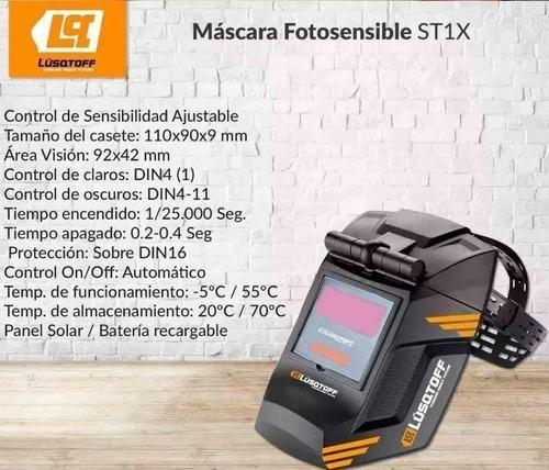 mascara soldar fotosensible lusqtoff careta st-1x