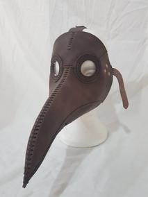 Mascara Steampunk Medico Da Peste Plague Doc Couro Marron