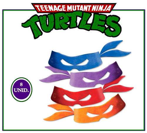 máscara tartaruga ninja enfeite decoração festa