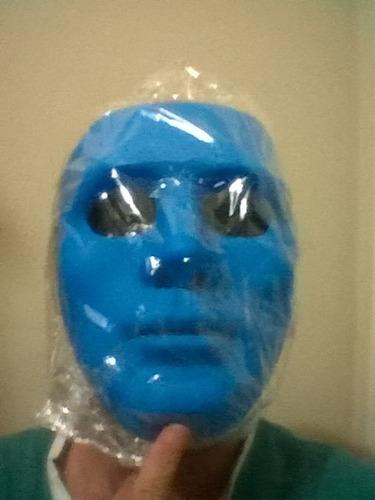 máscara teatro de pvc cor azul