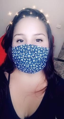 máscara  tecido estampa dog