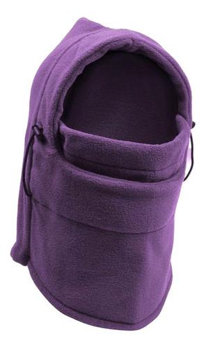 mascara termica balaclava frio bufanda moto tactica morado