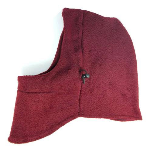 mascara termica balaclava frio bufanda moto tactica vino red