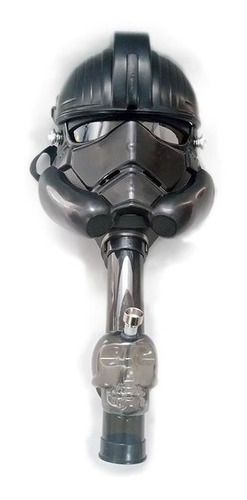 mascara tipo bong diseño storm trooper star wars de acrilico