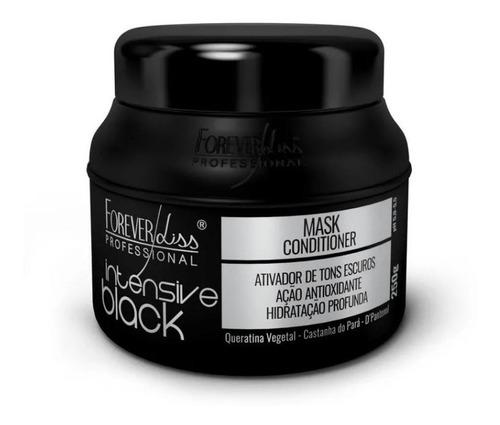 máscara tonalizante intensive black 250gr forever liss