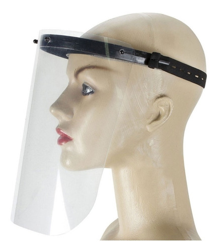máscara unissex proteção viseira de acrílico com elástico