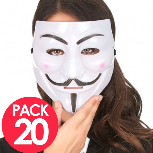 mascaras anonymouse pack 20 v vendetta cotillon fiestaclub
