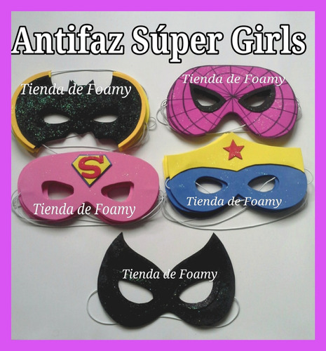 máscaras antifaz carnaval avengers súper héroes foami