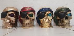 Mascaras Calavera Pirata Plástico Decorar Colección Usadas