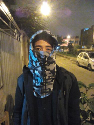 mascaras  capuchas cortavientos