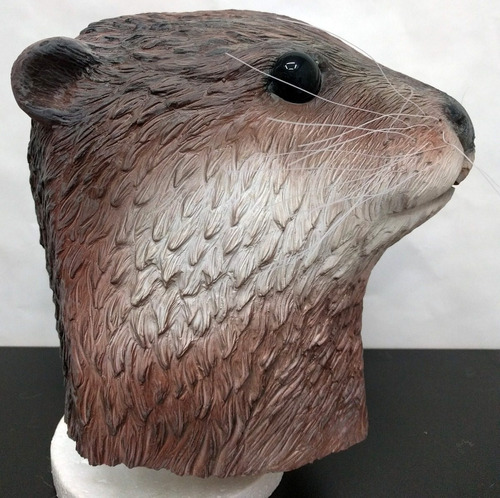 mascaras de latex nutria castor vison huron disfraz adulto