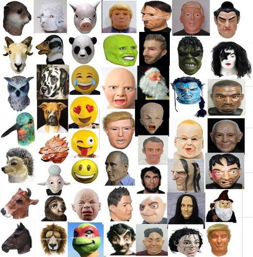 mascaras de latex suricata mangosta timon animales disfraz