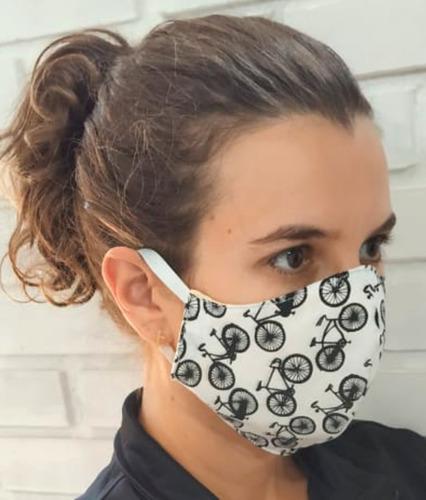 máscaras de proteção, tecido lavável - 5 unidades sortidas