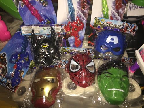 mascaras de vengadores heroes, spideman, ironman, capitan