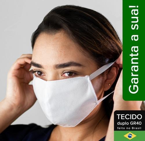 mascaras higiênicas de tnt com dupla proteção kit com 100un.