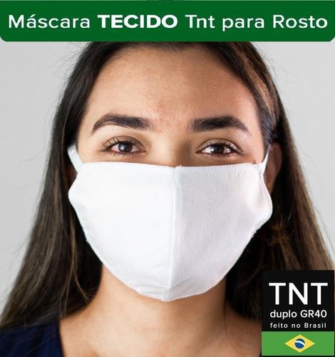 mascaras higiênicas de tnt com dupla proteção kit com 5uni.