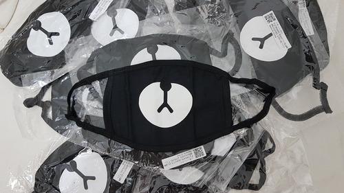 máscaras kpop - ursinho kumamon/ preta lisa  / exo / bts