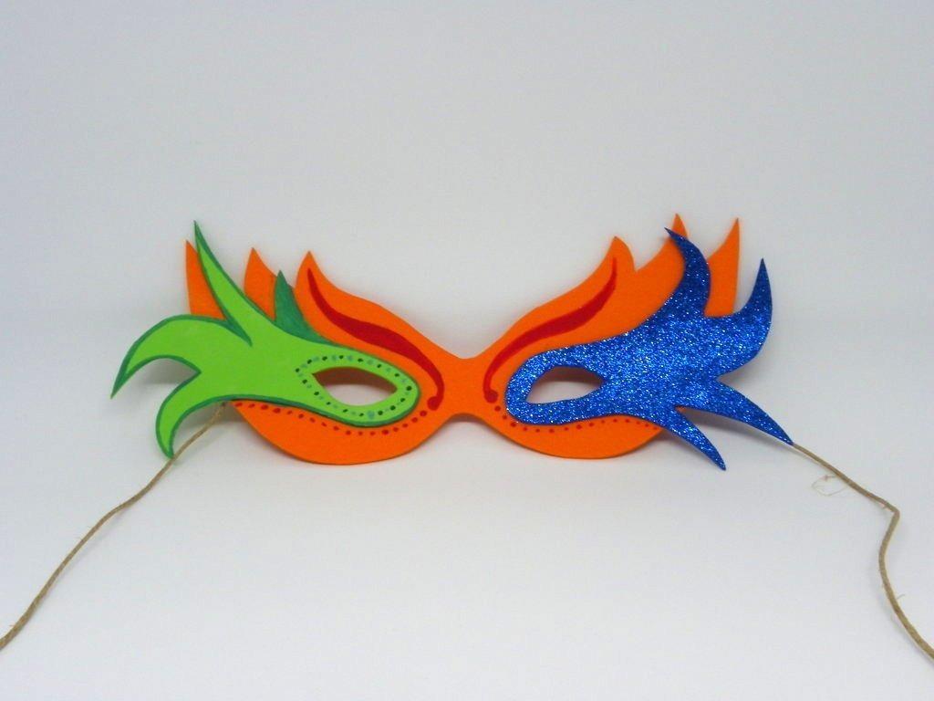 Mascaras o antifaz carnaval en foami bs 90 00 en mercado libre - Mascaras para carnaval manualidades ...