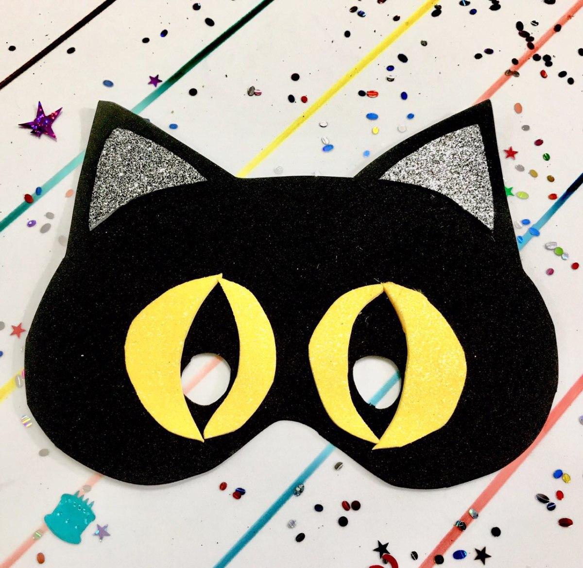 Mascaras Para Halloween En Fomi Foami Fomy Gato 22 00 En
