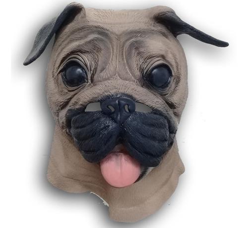 mascaras perros pug bulldog latex disfraz halloween adulto