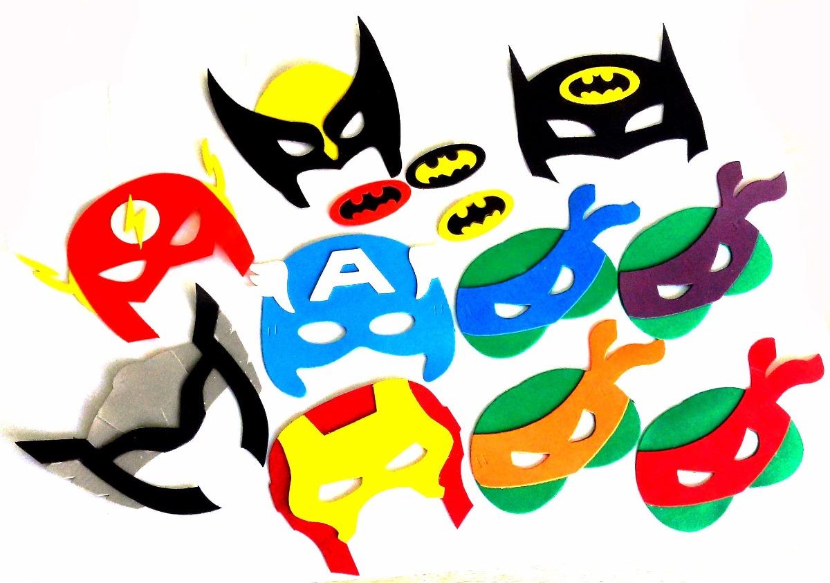 d824936ee0a máscaras personalizadas eva super heróis - 40 pçs. Carregando zoom.