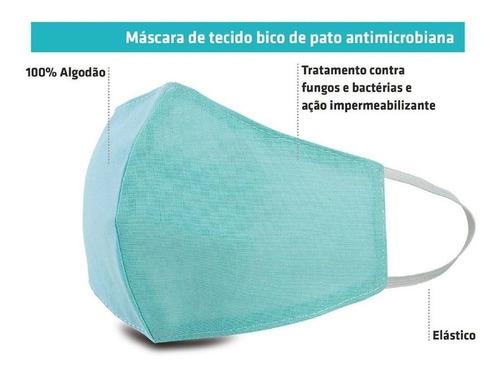 máscaras protetoras de tecido algodão reutilizável kit c/ 3