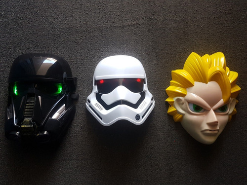 mascaras star wars dragon ball avengers ironman con luz led