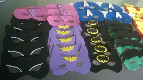 mascaras super heroes goma eva