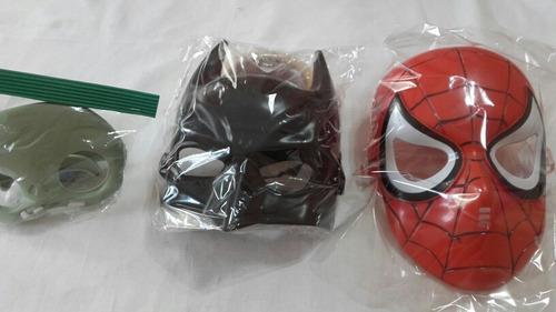 máscaras  zombie.  batman y spiderman